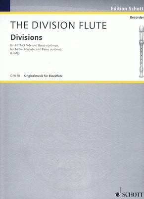 Division Flute   Hans-Martin Linde Alto Recorder and Piano Recueil / Raphael Courteville / Hans-Martin Linde / Schott