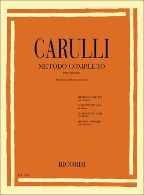 Metodo Completo per chitarra Ferdinando Carulli Benvenuto Terzi Ricordi Guitare Recueil  Méthode / Ferdinando Carulli / Ricordi