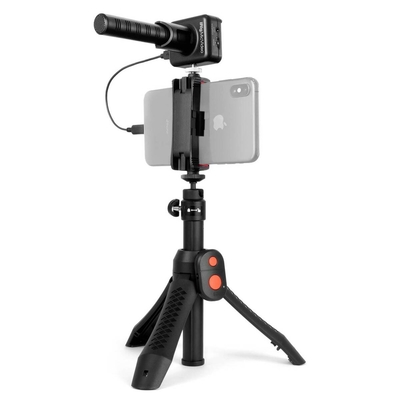 IK Multimedia iRig Mic Video Bundle (comprend l'iRig Mic Video + l'iKlip Grip Pro, iPhone non inclus)