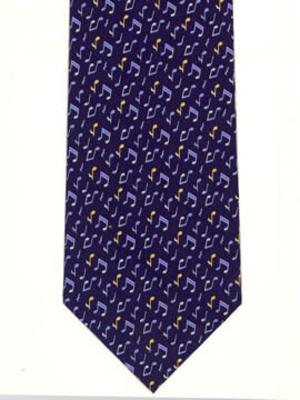 Hal Leonard Cravatte Bleue Marine Petites Notes – Navy Tie Tiny Notes     Textile