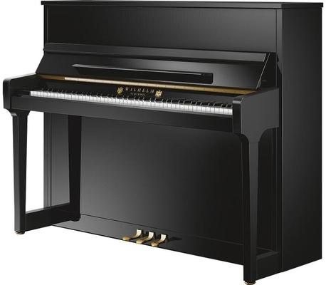 Schimmel W114 Tradition Noir poli brillant + Système silencieux TwinTone