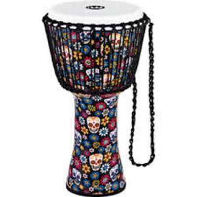 Meinl Rope Tunes Travel Series Djembes 12» Rope Tuned Djembe – Day Of The Dead – Synthetic Head