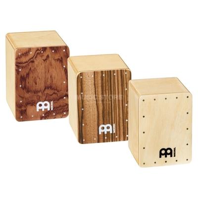 Meinl Wood Shakers Mini Cajon Shaker 3pcs Set – Bubinga/Natural/Zebrano