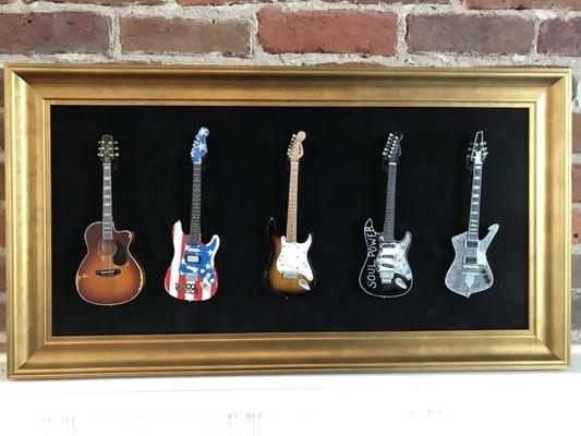 Gibson 5ER Mini Guitar Display Frame (Mini guitares non incluses)