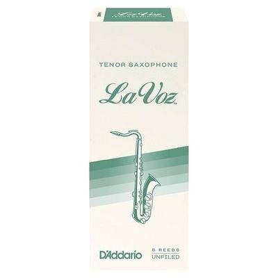 D'Addario La Voz anches saxophone ténor medium hard boîte de 5