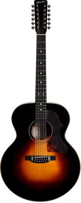 Boucher Guitares SG12–23E Jumbo Bubinga – Sunburst