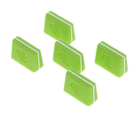 Reloop Fader cap set green (set of 5)