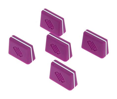 Reloop Fader cap set purple (set of 5)