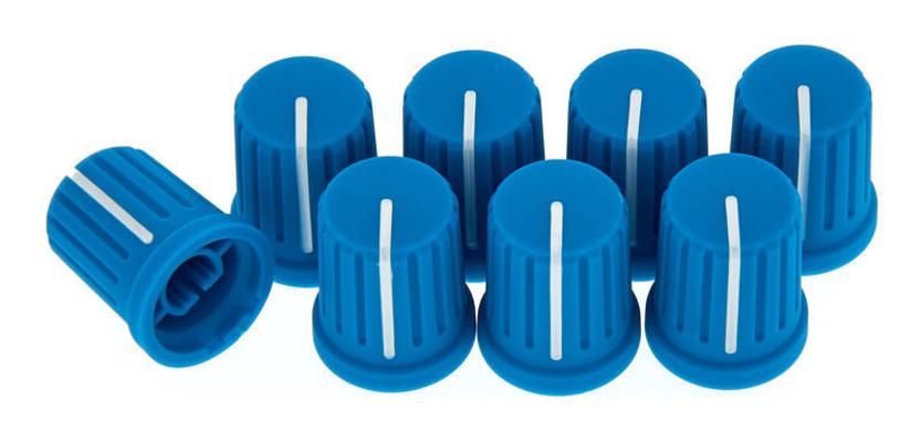Reloop Knob set blue (set of 8)