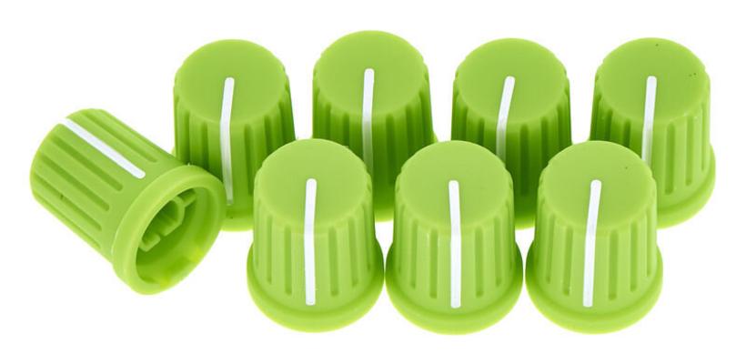 Reloop Knob set green (set of 8)