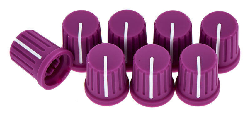 Reloop Knob set purple (set of 8)
