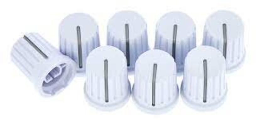 Reloop Knob set white (set of 8)