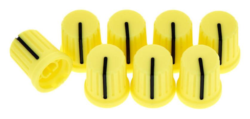 Reloop Knob set yellow (set of 8)