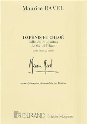 Daphnis Ballet Piano Avec Choeur   Maurice Ravel  Editions Durand Piano Conducteur  Transcription / Maurice Ravel / Durand