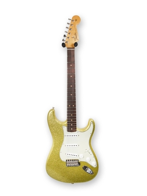 Fender Custom Shop 65′ Stratocaster Journeyman relic, AAA Flame Maple Neck, Rosewood Fingerboard, Chartreuse Sparkle