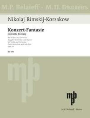 Konzert-Fantasie op.33 über russische Themen Nikolai Rimsky-Korsakov Réduction piano / Nikolai Rimsky-Korsakov / Belaieff