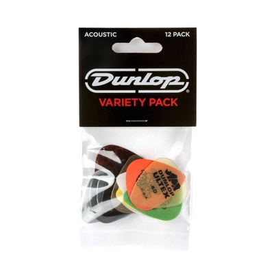 Dunlop PVP112 Acoustic Pick Variety Player's Pack, 12 assorted picks