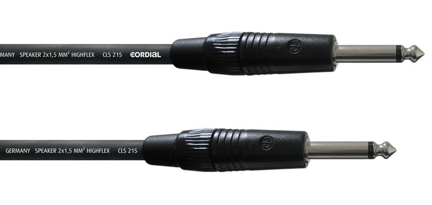 Cordial CPL 1.5 PP câble haut-parleur, 1.5m, noir