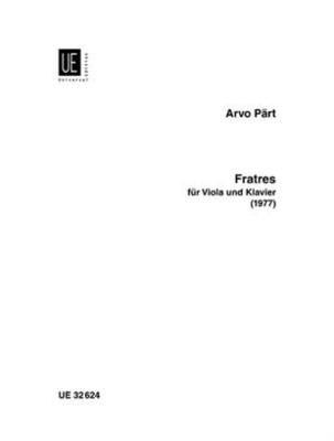 Fratres Alto et Piano Arvo Pärt / Arvo Pärt / Universal Edition