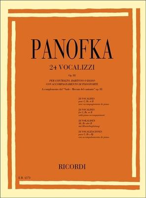 24 Vocalizzi Op. 81 pour Contralto, baryton et basse / Heinrich Panofka / Ricordi