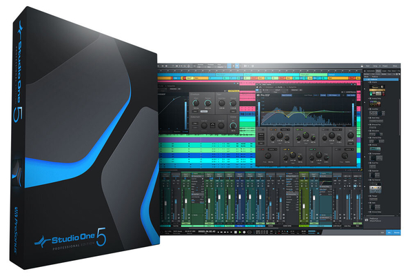 Presonus Studio One 5 Professional Udpate de Professional ou Producer – Logiciel Station Audio Numérique