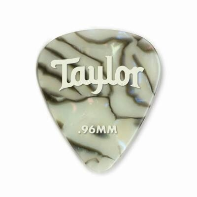Taylor Celluloid Picks, Abalone, 0.96mm, 12-Pack