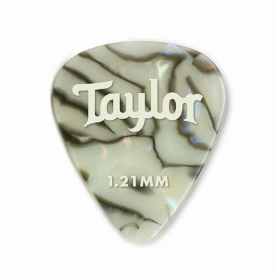 Taylor Celluloid Picks, Abalone, 1.21mm, 12-Pack