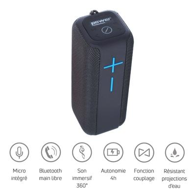 Power Acoustics GETONE 40 GREY Enceinte Nomade Bluetooth Compacte – Couleur Grise
