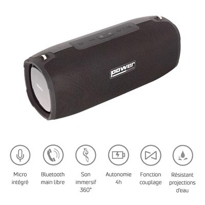 Power Acoustics GETONE 50 Enceinte Nomade Bluetooth Compacte – Couleur Noire