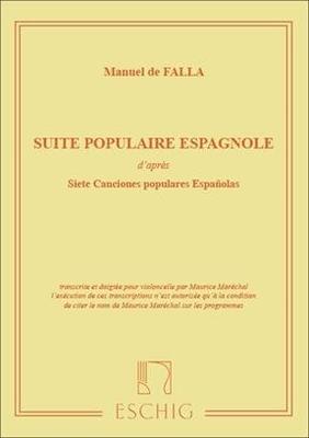 Suite Populaire Espagnole / Manuel de Falla / Eschig