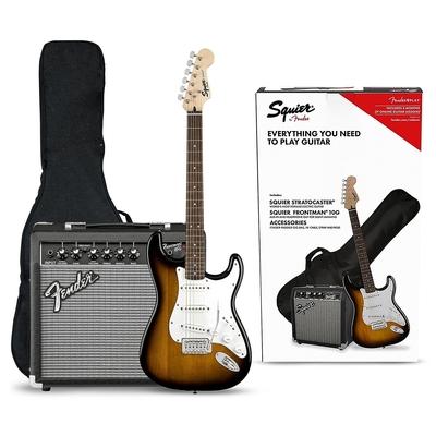 Squier Stratocaster Pack Laurel Fingerboard Brown Sunburst