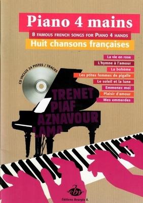 Piano 4 mains 8 Chansons Françaises /  / Bourgès