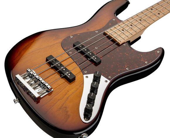 Sadowsky MetroLine 21-Fret Vintage J/J Bass Swamp Ash Body 4-String – '59 Burst Transparent High Polish : photo 2