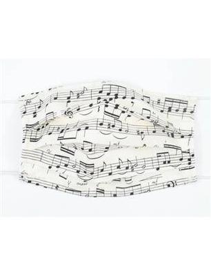Agifty Masque Notes de Musique Portées Face Covering Music Design 12 (Coton) 18,59,5 cm