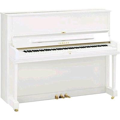 Yamaha Pianos Silent YUS1 SH2 PWH Silent blanc poli-brillant, 121 cm