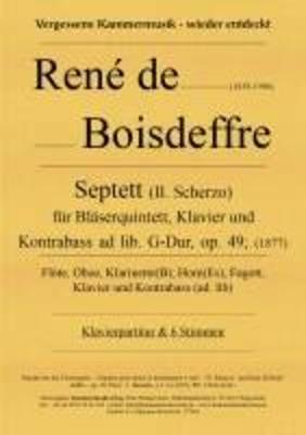 Klavierseptett mit Bläsern und Kontrabass, G-Dur, op. 49 René de Boisdeffre / René de Boisdeffre / Kammermusik Verlag