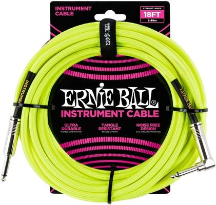 Ernie Ball 18FT Braided Straight / Angle Jaune