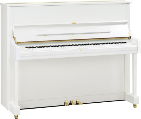 Yamaha Pianos Acoustic U1 PWH Blanc poli-brillant , 121 cm