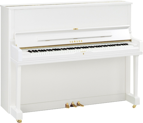 Yamaha Pianos Acoustic YUS1 PWH Acoustique, Blanc poli-brillant, 121 cm