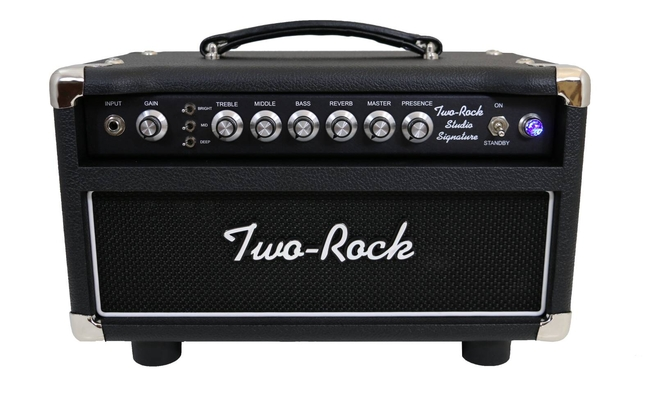 Two-Rock Studio Signature 35 Watt Head, Black Chassis, Black Bronco