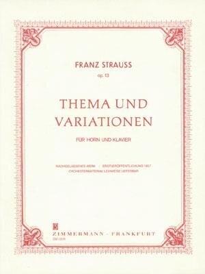 Thema & Variationen Op.13 / Franz Strauss / Zimmermann