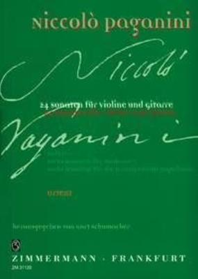 Vierundzwanzig Sonaten Heft II Sechs Sonaten opera V, Sechs Sonaten opera VI / Niccol Paganini / Kurt Schumacher / Zimmermann