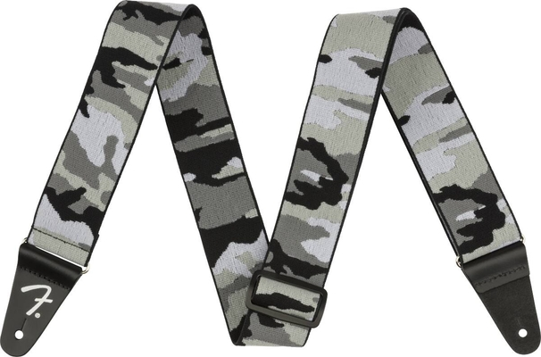 Fender WeighLess 2» Gray Camo Strap