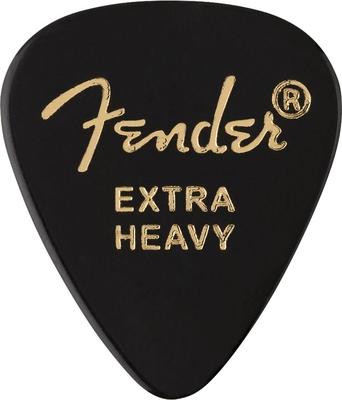 Fender 351 Shape Premium Picks Extra Heavy Black 12 Pack