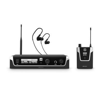 LD Systems 508 IEM HP Système d'In-Ear Monitoring sans Fil avec écouteurs – 863 – 865 MHz + 823 – 832 MHz
