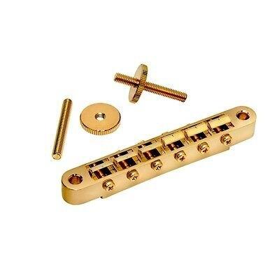 Gotoh LP GOTOH BRIDGE 4.5mm HOLES- NARROW (11mm) +HARDW GOLD
