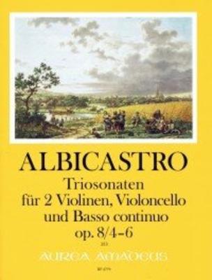 12 Triosonaten op. 8 – Band II: Sonaten 4-6 für 2 Violinen, Violoncello und Bc. / Henricus ALBICASTRO / Harry Joelson / Amadeus