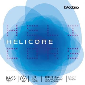 D'Addario Contrebasse 3/4 HELICORE HYBRID 1e SOL-G léger : photo 1