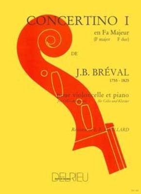 Concertino n1 en Fa majeur / Jean-Baptiste Bréval / Edition Delrieu