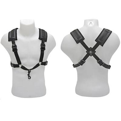 BG BG, Harnais »Comfort» pour sax alto/ténor – modèle pour homme XL – avec mousqueton en plastique